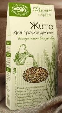 Жито для пророщування 0,3 кг картон. упаковка